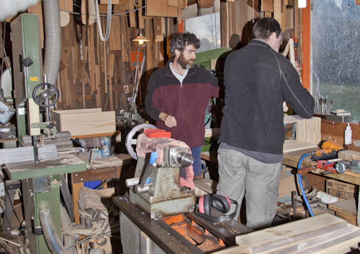 nick and darren in the workshop